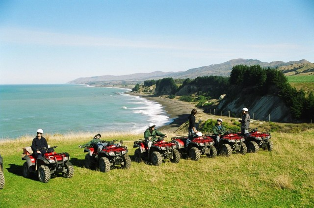 Quad Bikes on Kaikoura Coastline