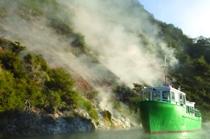 Donne Cliffs, Lake Rotomahana, Waimangu Volcanic Valley, Rotorua