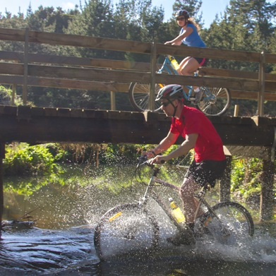 Twin Coast Cycle trail river crossing