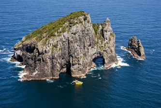 Explore Group - Bay of Islands Hole in the rock aerial View