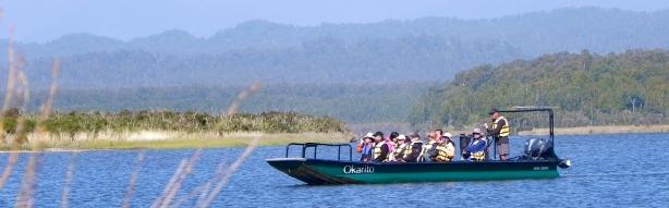 Okarito_Lagoon_boat_tours_White_heron_tours_panorama