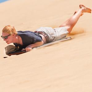 Cape-Reinga-Sand-Tobogganing-Te-paki-sand-dunes