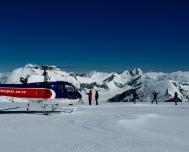 Helicopter-line-scenic-flight-queenstown-Alpine-Snow-Landing