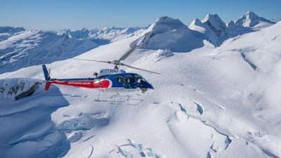 Queenstown Helicopter Scenic Flights over glaciers and mountains