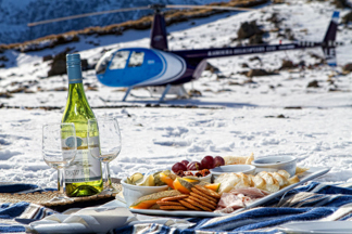 Champagne lunch on snow capped peaks with Kaikoura Helicopters