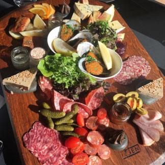 meat platter at a Marlborough Vineyard