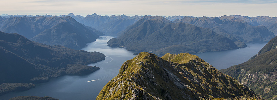 helicopter flight over Doubtful sound