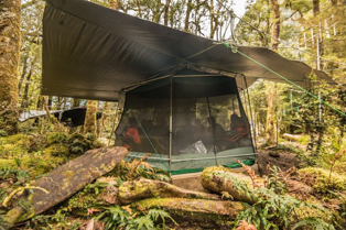 Tent accommodation on overnight kayaking & camping trip in Doubtful Sound