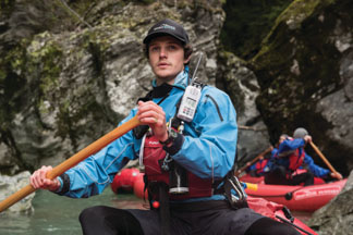 Funyak guide leads the way on the Dart River Glenorchy