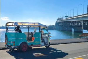 Electric tuk tuk tours auckland harbour bridge