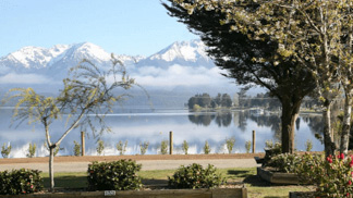 view of Te Anau lake waterfront
