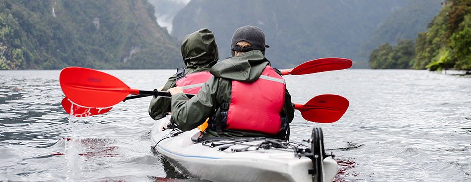 Guided Sea Kayaking tour in Doubtful Sound