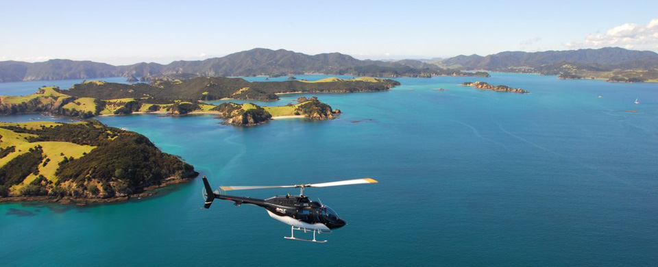 Helicopter Scenic flight over the Bay of Islands