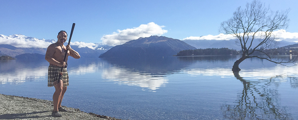 Wana Haka maori challenge by Lone Tree lake wanaka