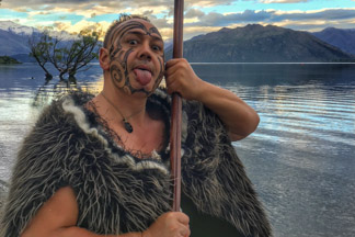 Maori Greeting at Lone Tree on Wanaka Lakefront