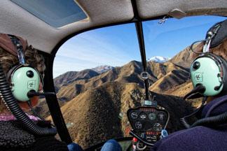 Kaikoura Helicopters flying over the Kaikoura mountain ranges