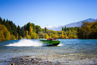 jet boat on the Clutha River, Lake Wanaka