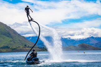 Flyboarding on Lake Wanaka