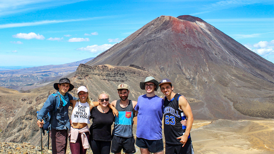 Backpacker North Island Tour on Tongariro Crossing